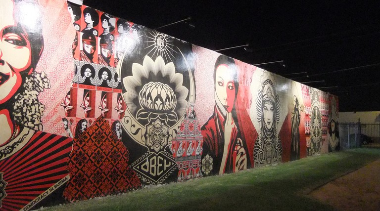 Shepard Fairey's Mural at Wynwood Walls | Juan Andres Martinez/Flickr