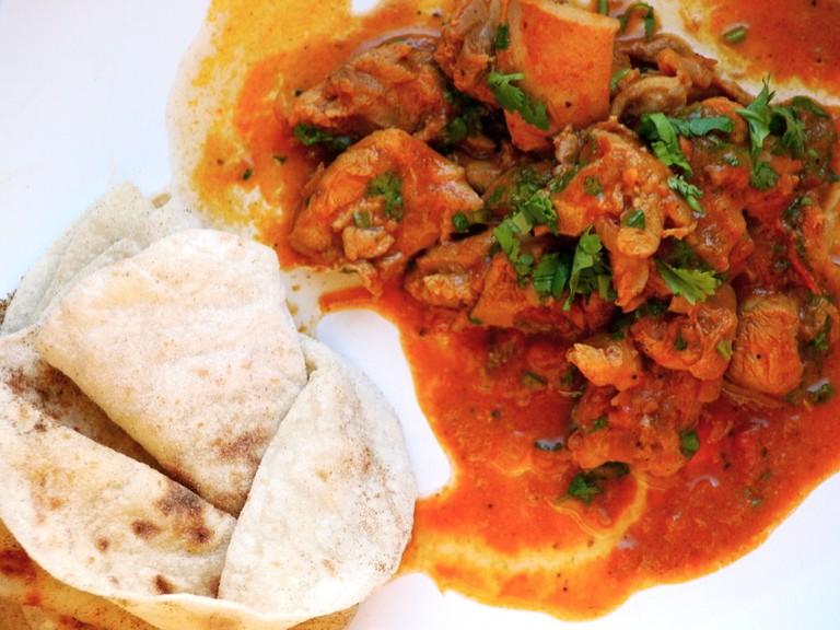 Roti and Chicken Massala