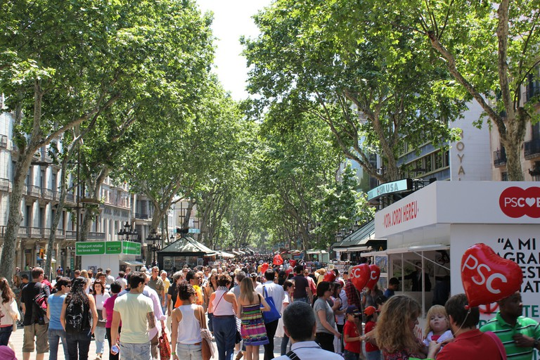 The busy streets of la Rambla make for easy pickings | © Mathieu Marquer