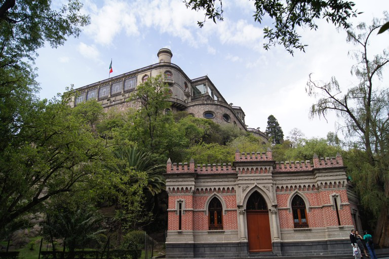 Castillo de Chapultepec from the Bosque