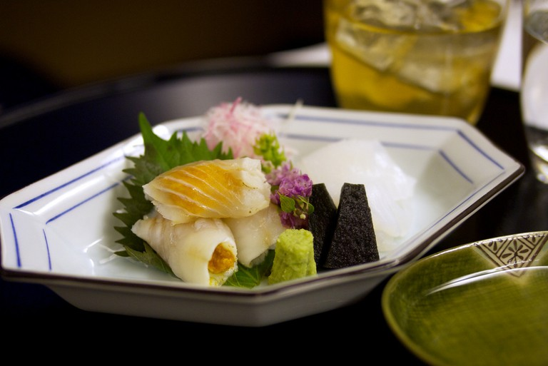 Kaiseki-style meal from ANA's first class dinner options | © Jun Seita/Flickr