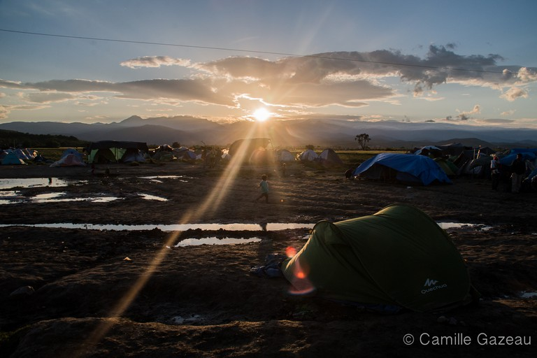 Refugee Camp in Idomeni, near the borders with the Republic of Macedonia | © Camille Gazeau
