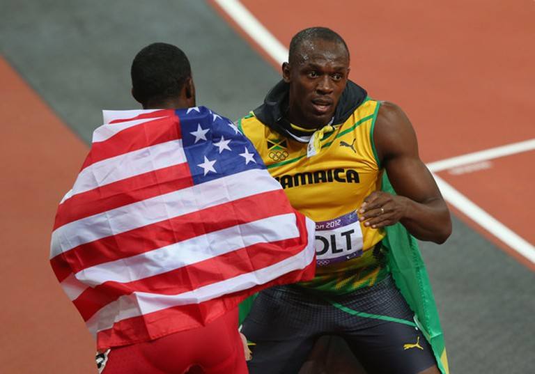Usain Bolt (right) and Justin Gatlin