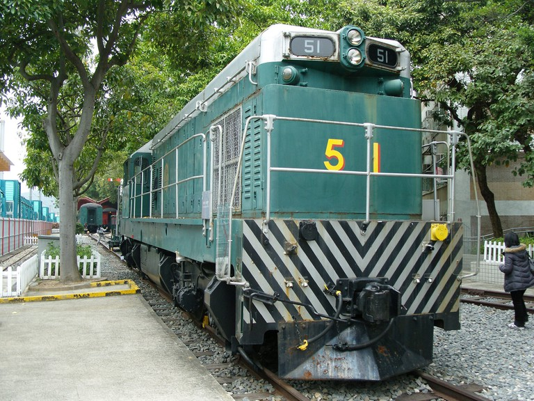 A diesel locomotive at the Hong Kong Railway Museum | shankar s./CC BY 2.0/Flickr