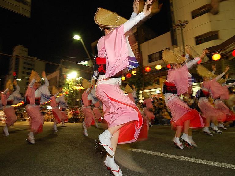 Dancers at the Awa Odori