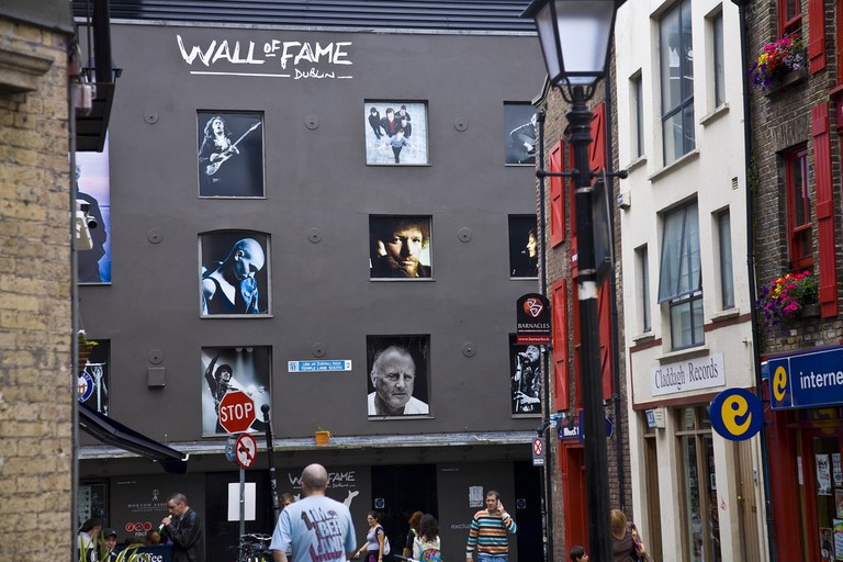 The Wall of Fame at the Irish Rock 'N' Roll Musuem