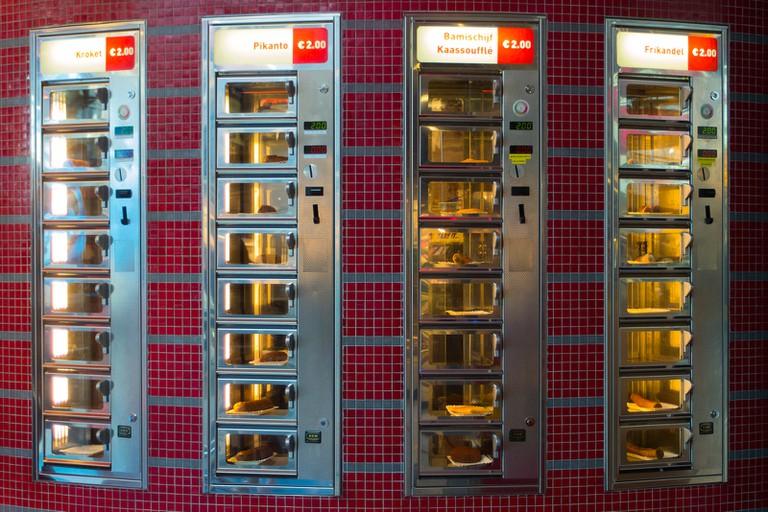 A Vending Machine Cafe Serving Frikandel