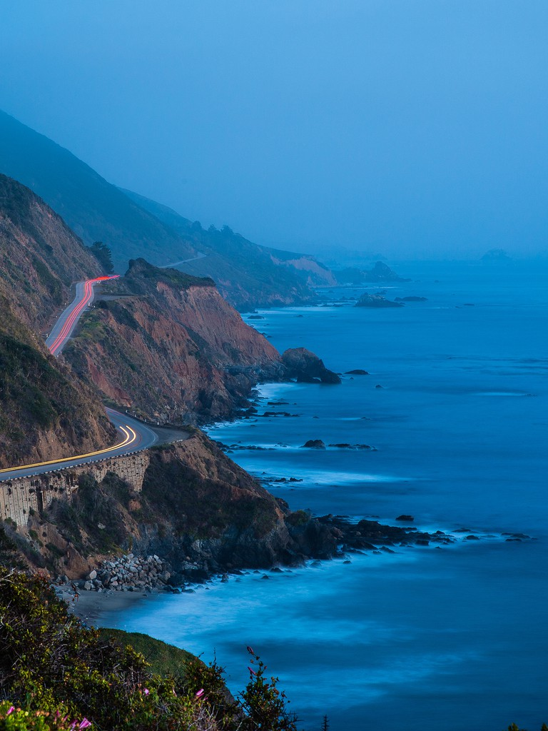 Blue Hour, California Highway 1, Big Sur