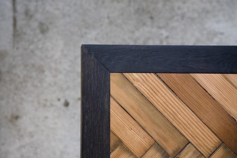 Seven Wood's Parquet Table