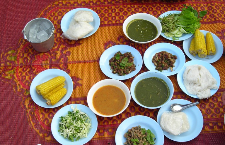 A traditional Thai spread