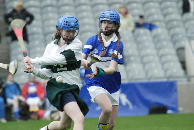 A Camogie game being played at Croke Park, Dublin
