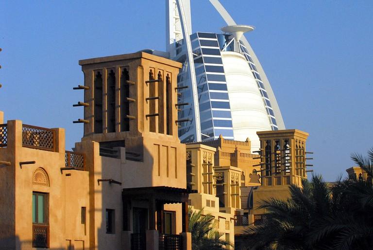Burj Al Arab as seen from the Madinat Souq