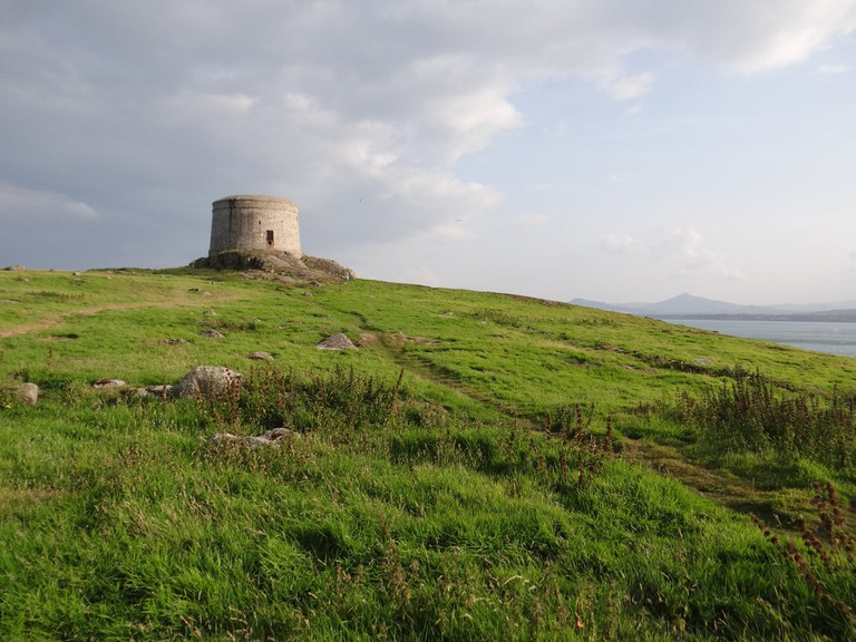 A Martello tower on Dalkey Island