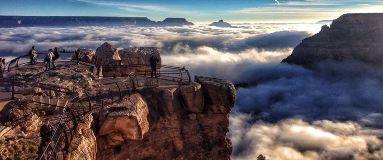 Grand Canyon in fog | © Public Domain/Wikicommons