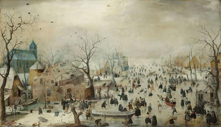 Hendrick Avercamp: Winter Landscape with Ice Skaters, 1608 | © The Rijksmuseum / Wikicommons