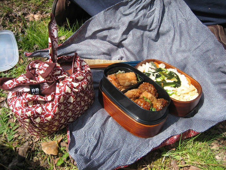 A homemade bento for a picnic