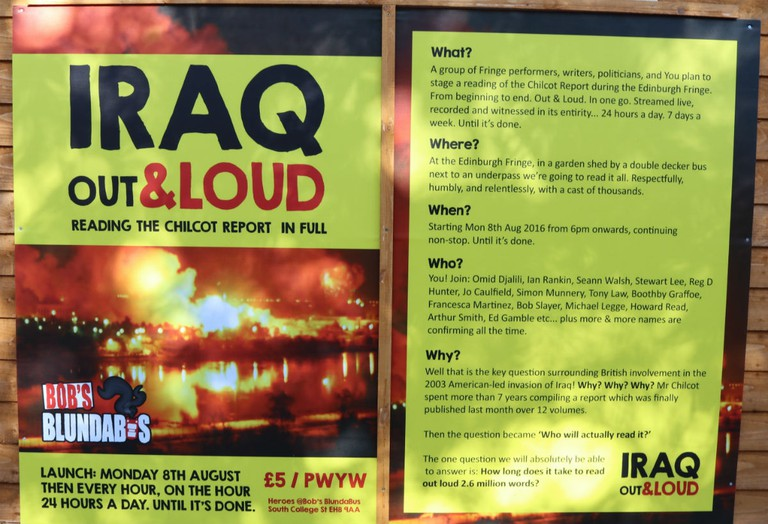 Iraq Out Load | Courtesy Of Tori Chalmers