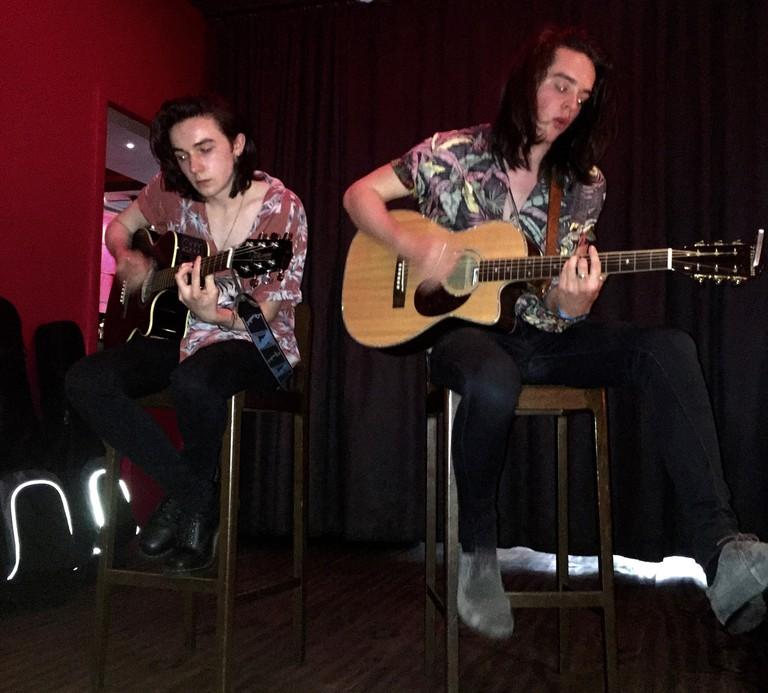 Mark McKenna and Ferdia Walsh-Peelo performing live (Sam Batty)