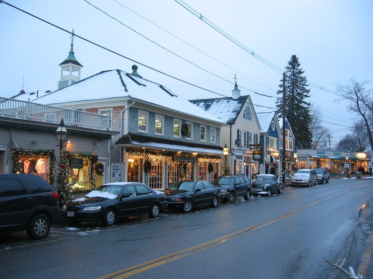 Kennebunkport Dock Square, Maine at Christmastime