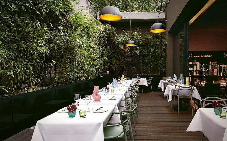 The bamboo-adorned quiet patio