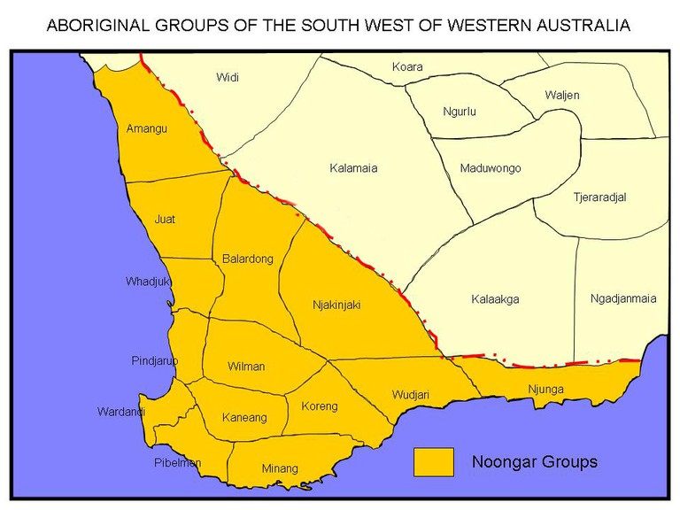 Noongar groups of the Southwest of Western Australia