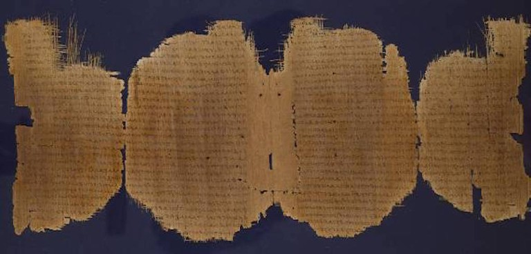 A 3rd-century Greek papyrus manuscript of the Gospel of Luke | Courtesy of The Chester Beatty Library