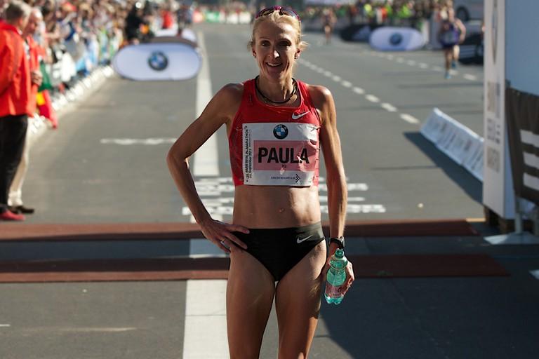 Paula Radcliffe at the Berlin Marathon 2011