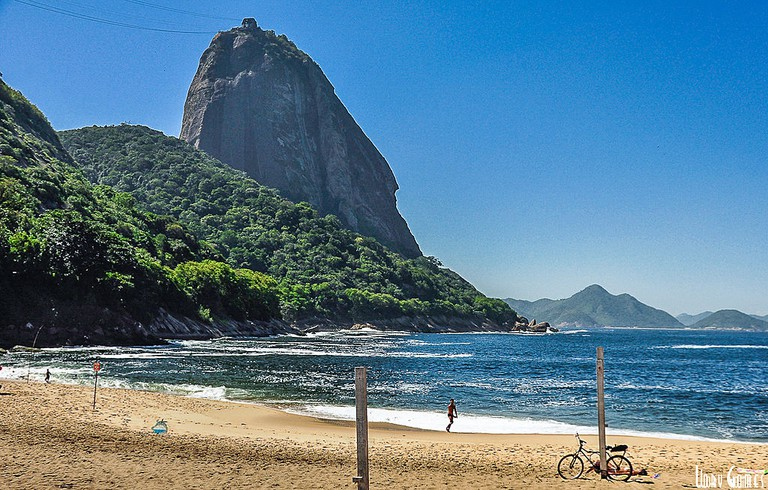 Praia Vermelha with Pao de Acucar in the background