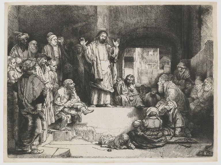 Rembrandt van Rijn: Christ Preaching, 1650-1654 | © The Rijksmusem / Wikicommons