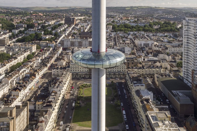 The i360 towers above the iconic Regency Square|©British Airways i360/BA