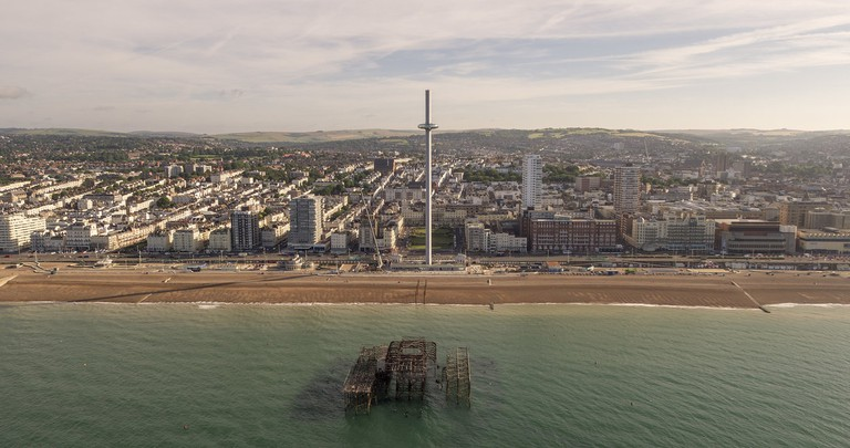 Drone image of the i360|©British Airways i360 /BA