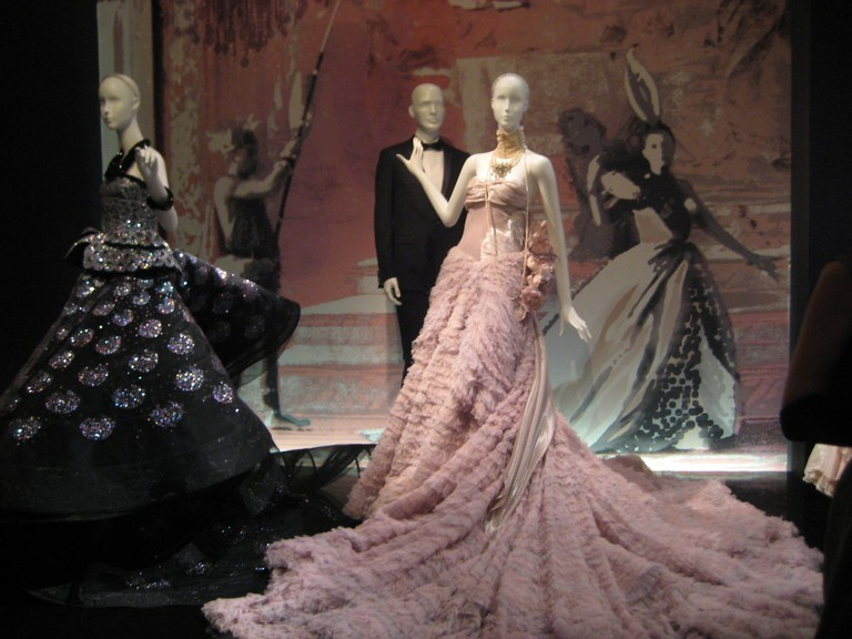 Ball gowns by Galliano for Dior as exhibited in Moscow, 2011