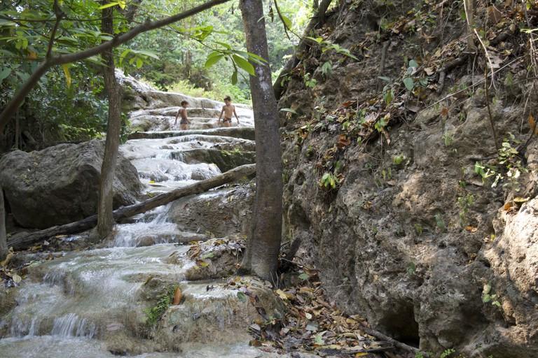 Waterfall At Erawan National Park/Courtesy of Kelly Iverson