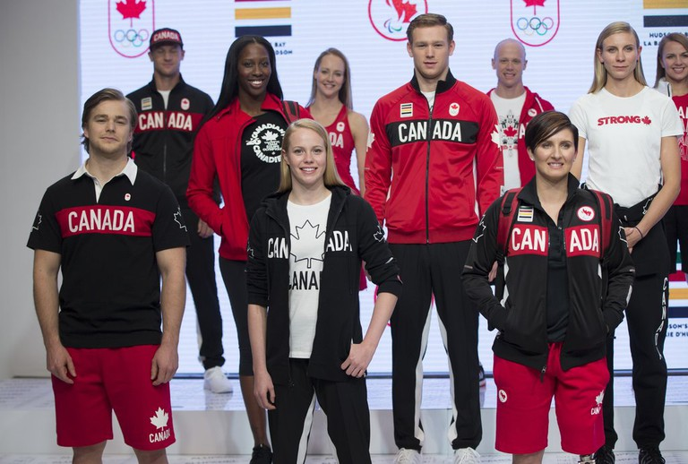 The Canadian Olympic uniform