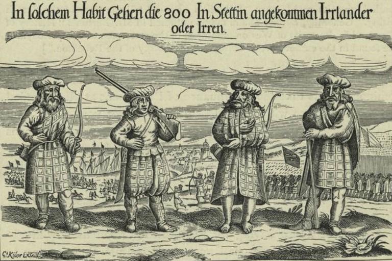 Earliest Image Of Scottish Soldiers Wearing Tartan C. 1631 | © Celtus~commonswiki/WikiCommons