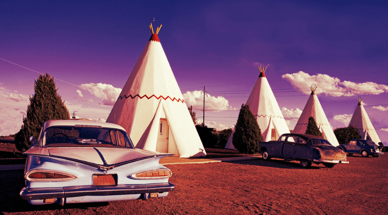Wigwam Motel on Route 66 - by Carol Highsmith | © KurtClark/Flickr