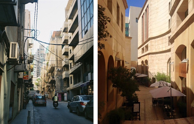 Bourj Hammoud contrasted with Downtown Beirut