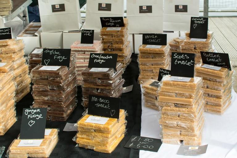 Scottish Tablet stall at Farmer's Market