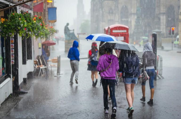 Heavy rain in Scotland