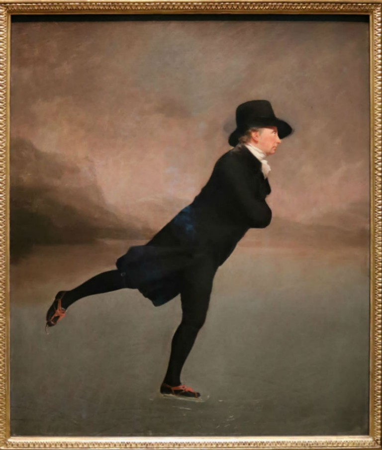 Sir Henry Raeburn, The Reverend Robert Walker Skating On Duddingston Loch, c.1795 | Courtesy Of Tori Chalmers