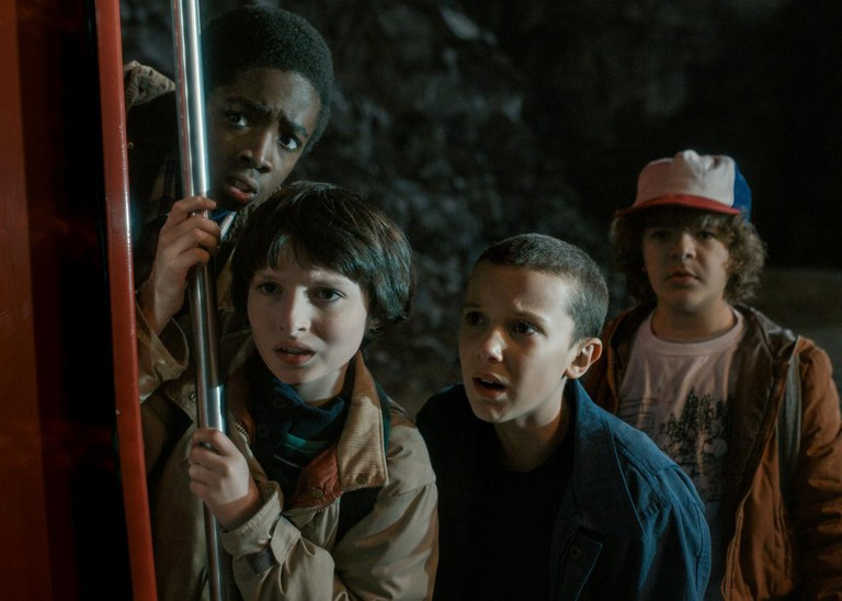 Lucas, Mike, Eleven and Dustin