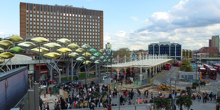 'The Stratford Shoal' in front of the Stratford Shopping Centre