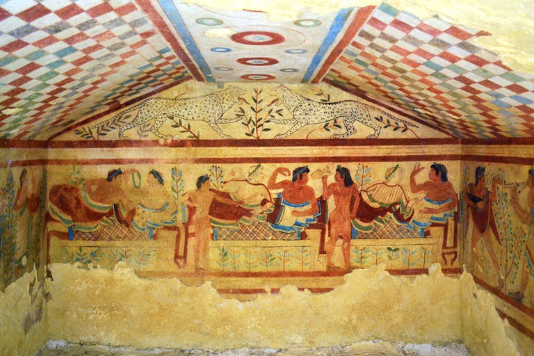 Painted Tombs in Tarquinia