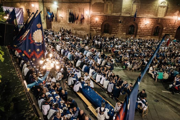 CENA-PALIO DI SIENA-SIENA-ITALY
