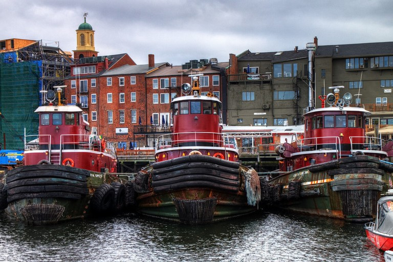 Tugboats in Portsmouth