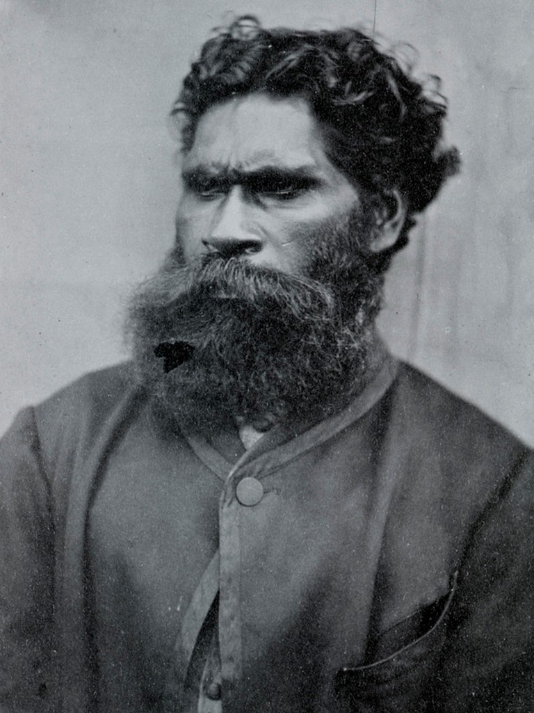 Indigenous Australian activist William Barak, 1866