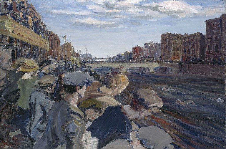 The Liffey Swim, 1923, by Jack B. Yeats