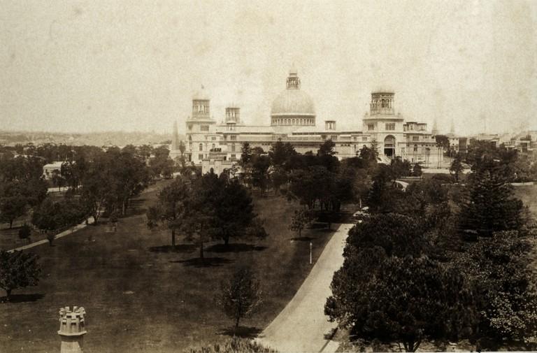 Exterior, the Garden Palace, Sydney, c1879.