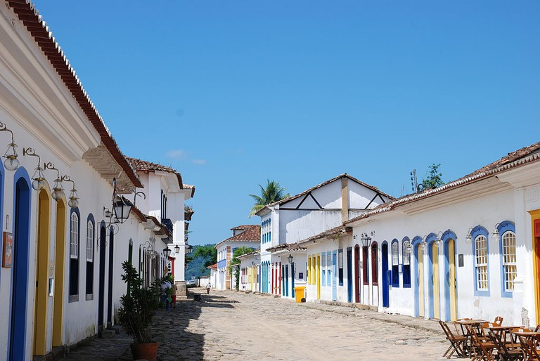 The cobbled streets of Paraty
