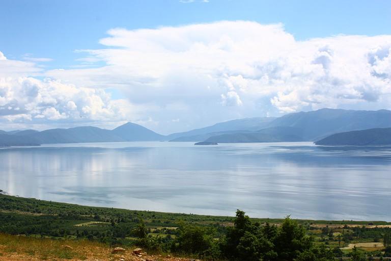 Lake Prespa from Slivnica Monastery